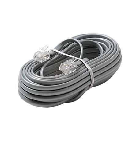 6C 15' Silver Modular Line Cord