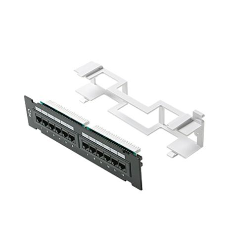 12-port Mini Cat5e Patch Panel