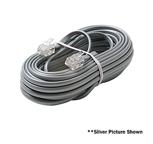 4C 7' WHITE DATA MODULAR CABLE