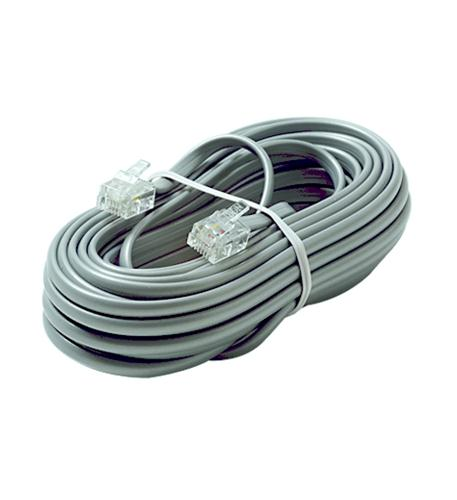 6C 25' Silver Modular Line Cord