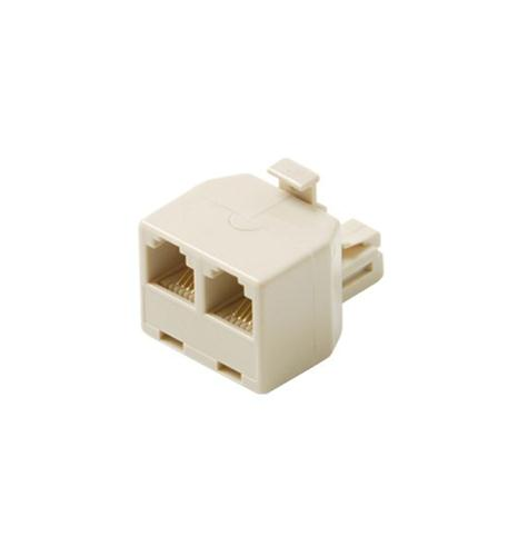 Modular 4C Tel T Adapter Ivory