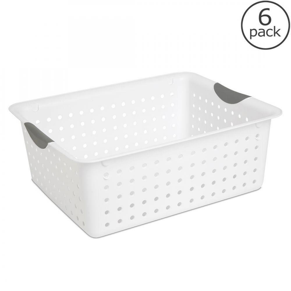Sterilite Small Ultra Basket - White, 6-Pack