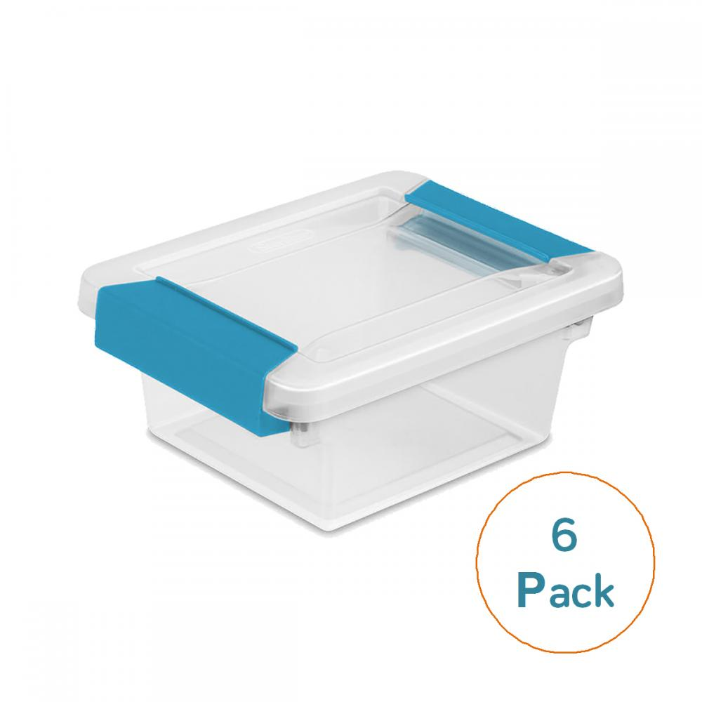 Sterilite Mini Clip Box, 6-Pack