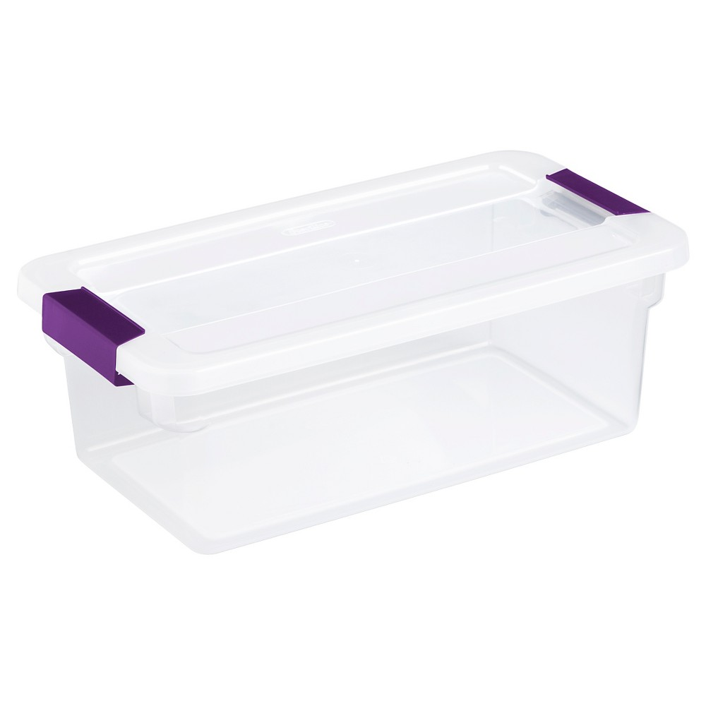 Sterilite 6 Quart ClearView LatchGS= Box, 12/Box