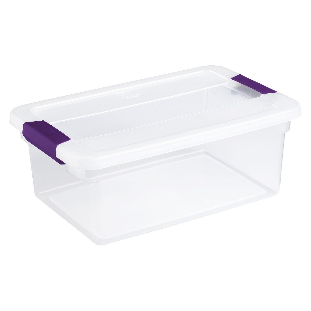 Sterilite 15 Quart ClearView LatchGS= Box, 12/Box