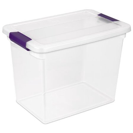 Sterilite 27 Quart ClearView LatchGS= Box, 6/Box