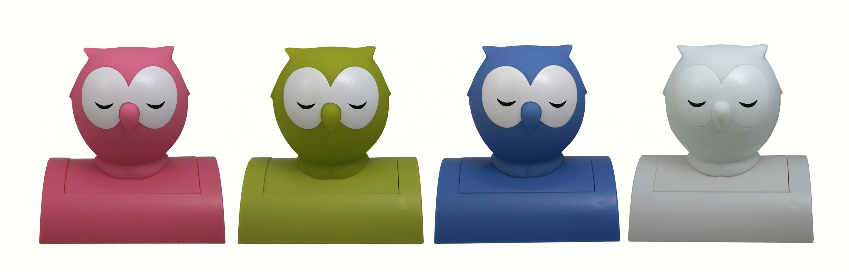 Owl Tap-On Nightlight Assorted Colors