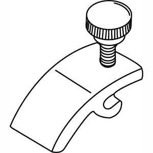 WHITE PANEL CLIP & SCREW, 100-PACK