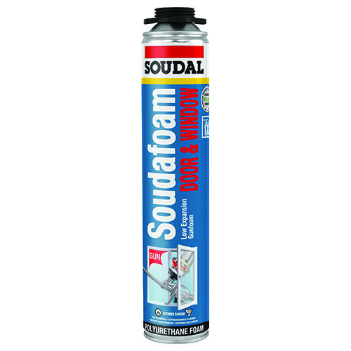 SOUDAL SOUDAFOAM WINDOW AND DOOR GUN FOAM, 3 PACK