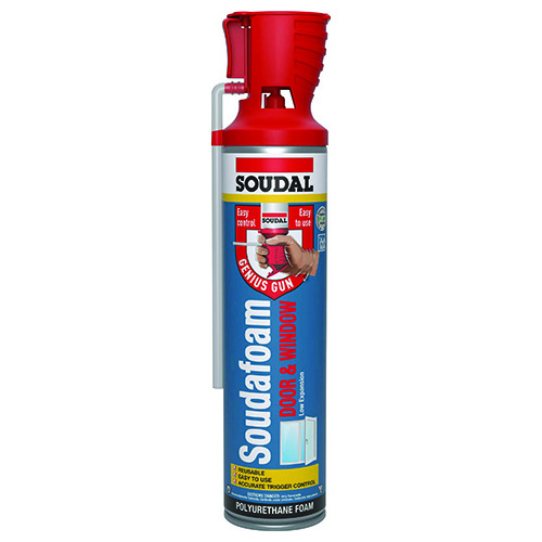 SOUDAL SOUDAFOAM WINDOW AND DOOR GENIUS GUN WITH FOAM, 4 PACK