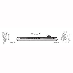 """17"""" Window Channel Balance #1610 w/ends 60-507 & 60-500 Attached, 10-Pack"""