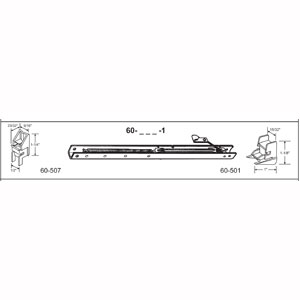 """14"""" Window Channel Balance #1320 w/ends 60-507 & 60-501 Attached, 10-Pack"""