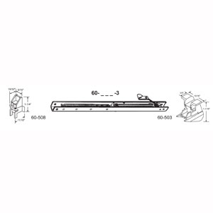 """14"""" Window Channel Balance #1320 w/ends 60-503 & 60-508 Attached, 10-Pack"""