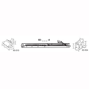"""15"""" Window Channel Balance #1420 w/ends 60-504 & 60-510 Attached, 10-Pack"""