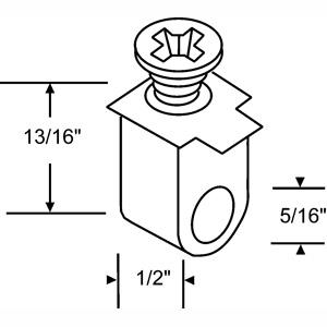 Closet Door Pivot Pin Guide New Style, 30-Pack