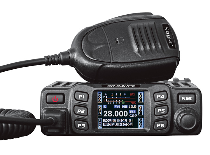 COMPACT 45 WATT 10 METER RADIO WITH FULL COLOR TFT DISPLAY, BACK-LIT KEYS, CHANNEL SCAN, ROGER BEEP, INSTANT CHANNEL 9/19