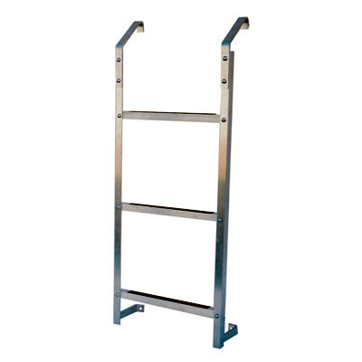 Ultra Protect Model 3-Step Aluminum Basement Window Well Egress Escape Ladder