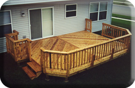 14' x 18' or 14' x 20' or 14' x 22' Deck w/ Grill Bump Out - Deck Building Plan