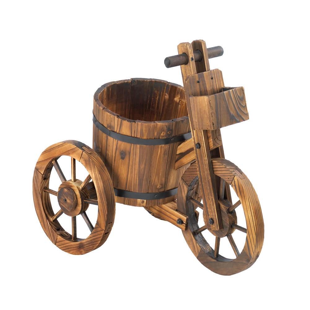 Barrel Tricycle Planter