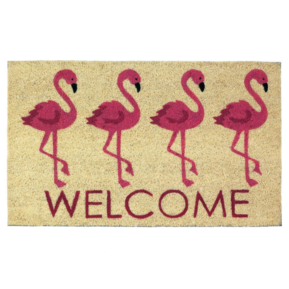 Flamingo Welcome Mat