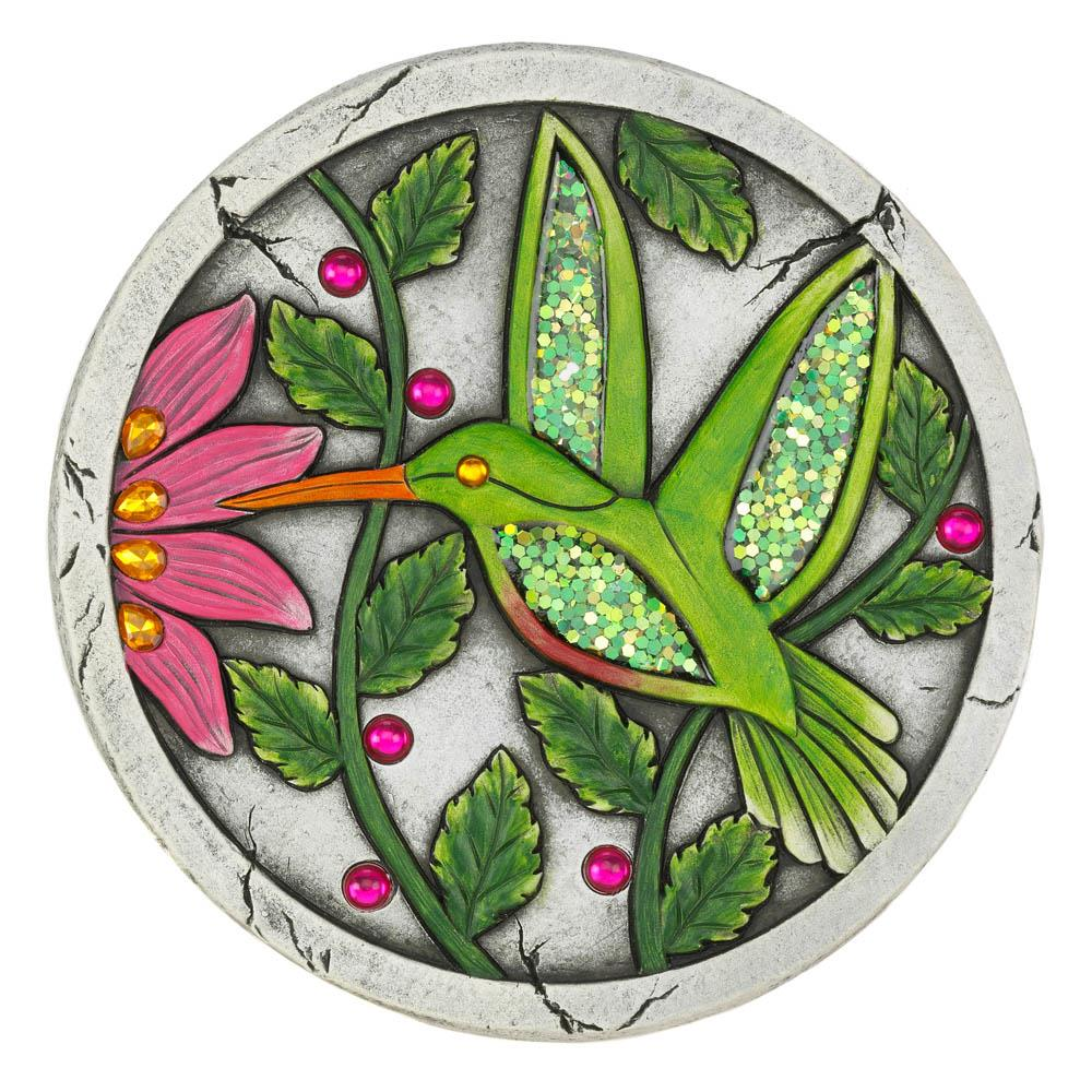 Green Hummingbird Garden Stepping Stone
