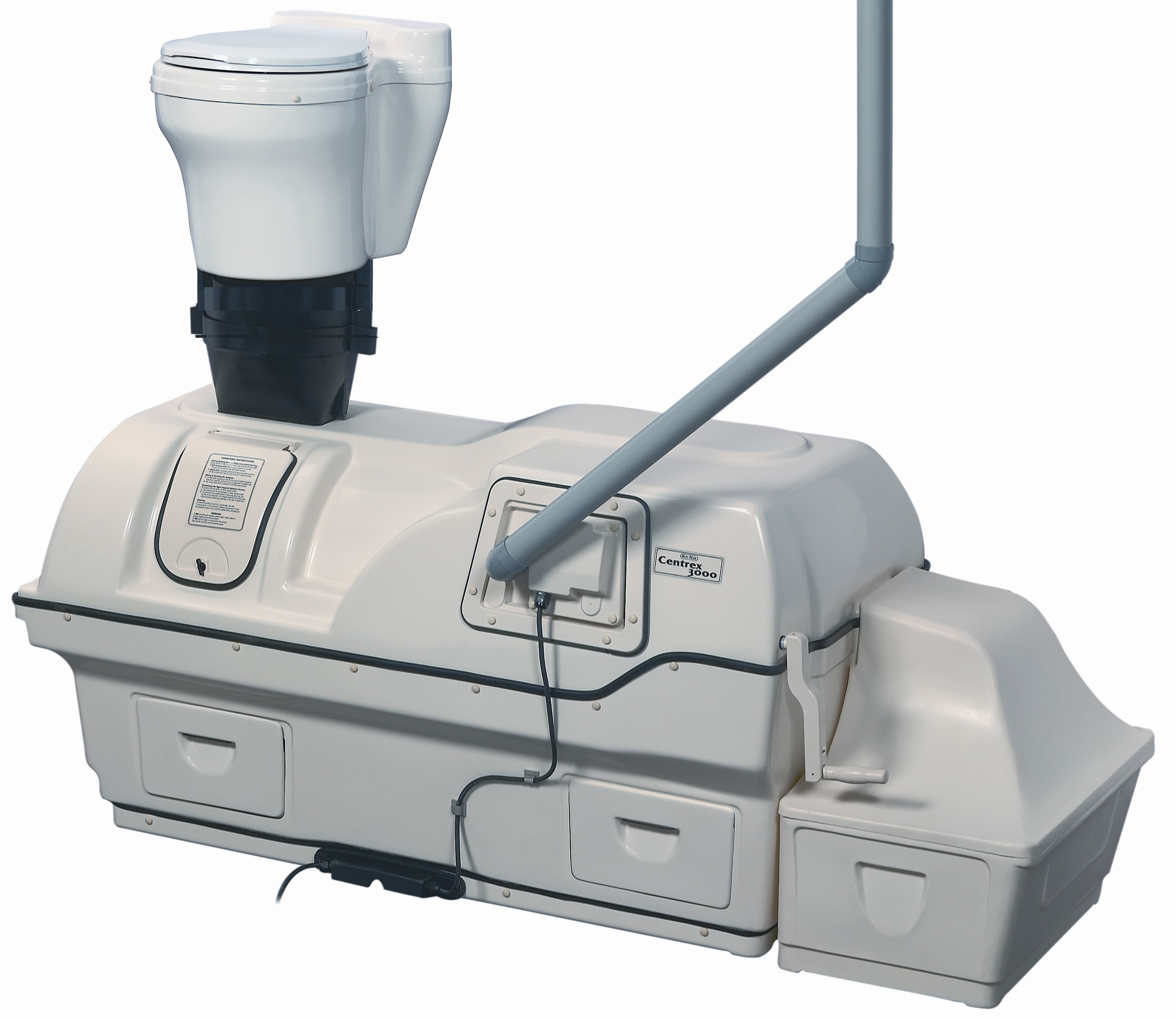 Centrex 3000 Electric Composting Toilet System with A/F Waterless Kit