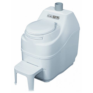 Excel Composting Toilet - White with AC/DC Kit