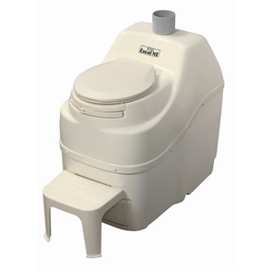 Excel NE Non Electric Self Contained Composting Toilet - Bone