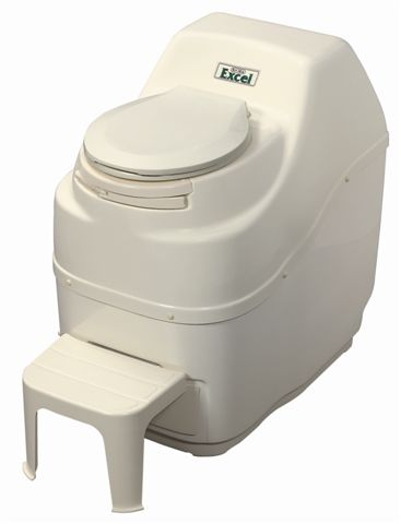Excel Electric Self Contained Composting Toilet - Bone