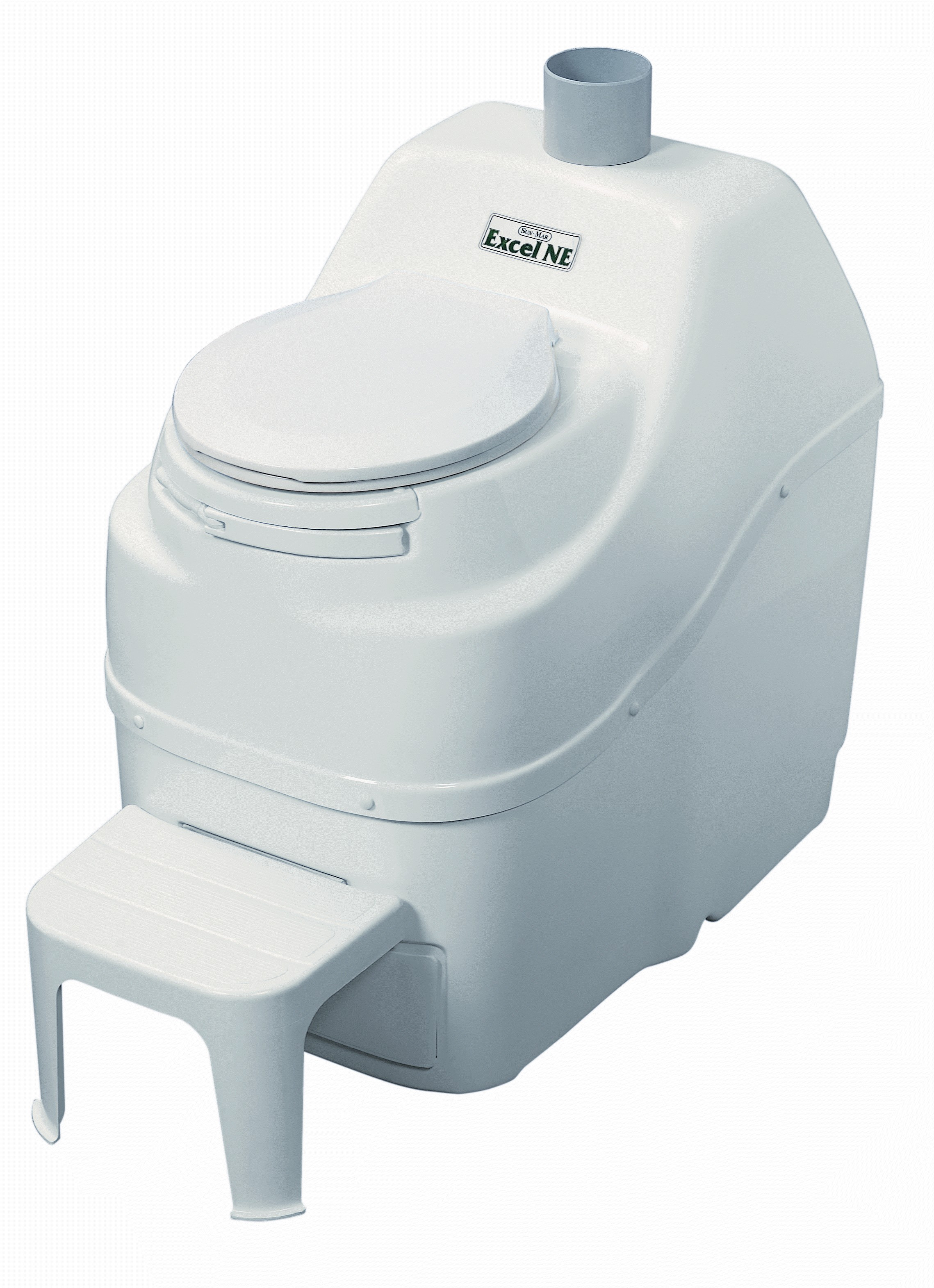 Excel NE Non Electric Self Contained Composting Toilet - White