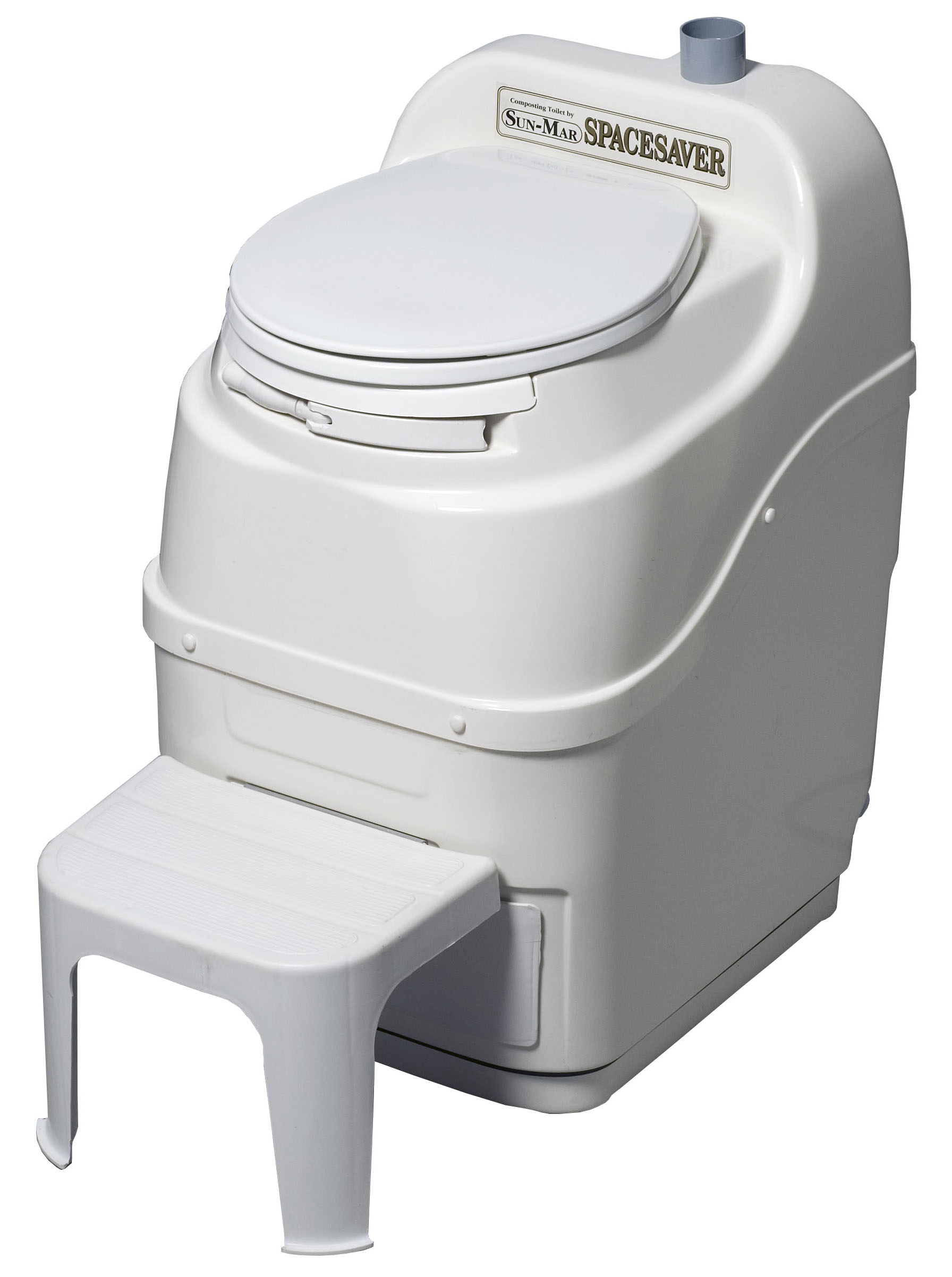 Spacesaver Composting Toilet - White