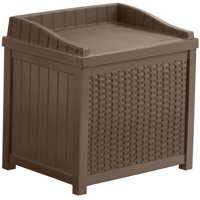 Resin Wicker 22 Gallon Storage Seat
