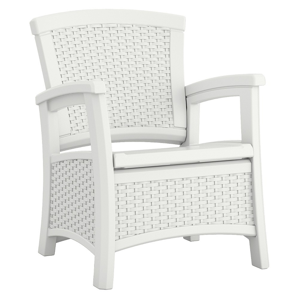 Club Chair/Storage, White