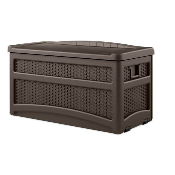 Resin Wicker Deck Box with Seat