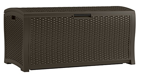 Rattan Deck Box; 122 Gallon