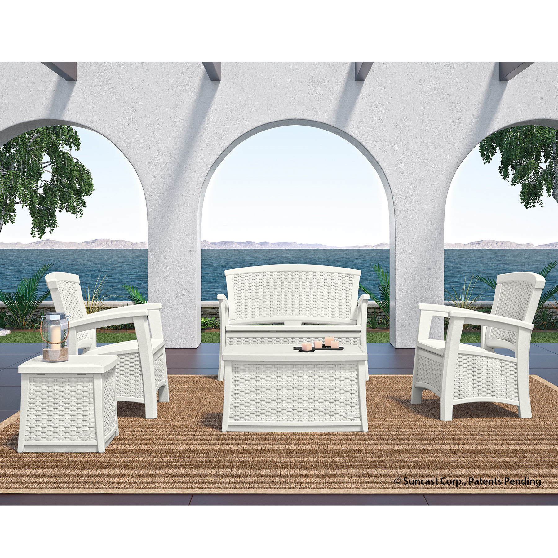 5pc Conversation Set  - White