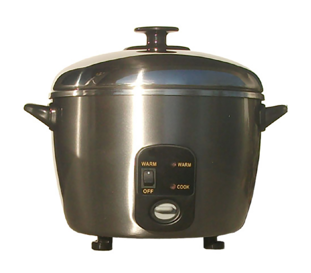 Sunpentown 3-cups Stainless Steel Rice Cooker / Steamer