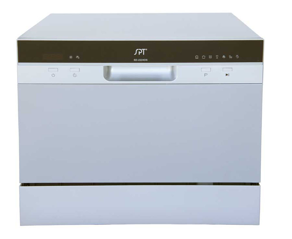 Countertop Dishwasher with Delay Start in Silver