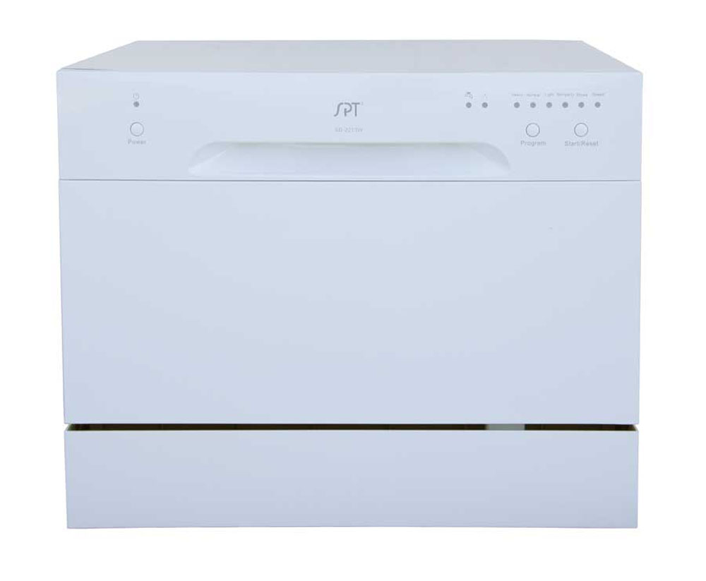 Sunpentown Countertop Dishwasher in White