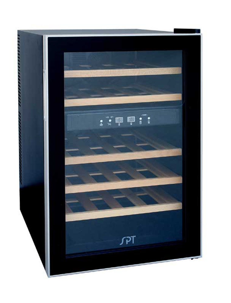 Sunpentown 24-bottle Dual-Zone Thermo-Electric Wine Cooler w/Wooden Shelves