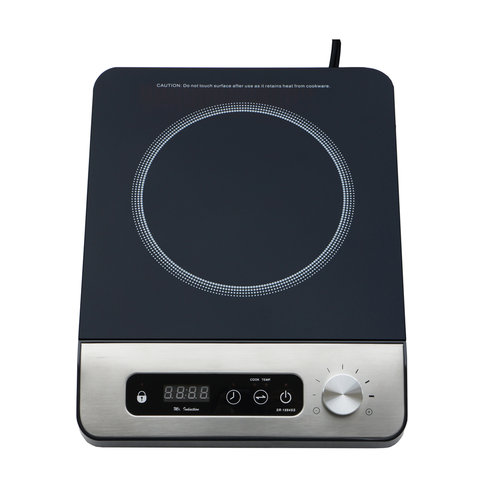 Sunpentown SR-1884SS: 1650W Induction Cook-top with Control Knob Black