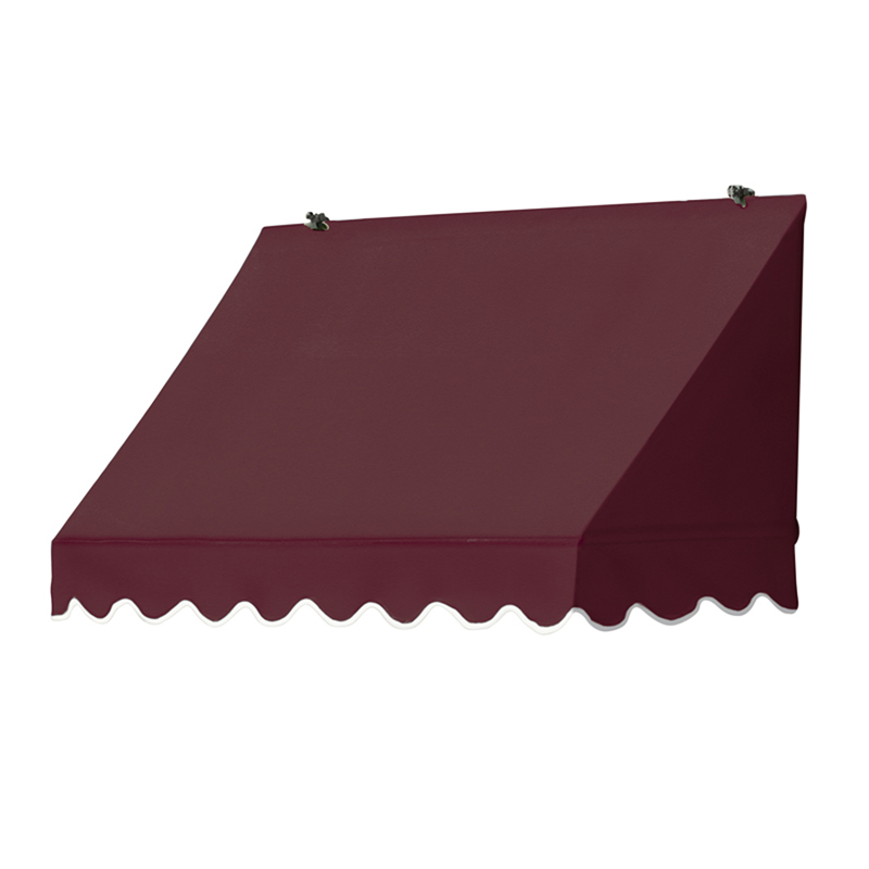4' Traditional Awnings in a Box, Burgundy