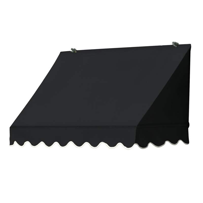 4' Traditional Awnings in a Box, Ebony
