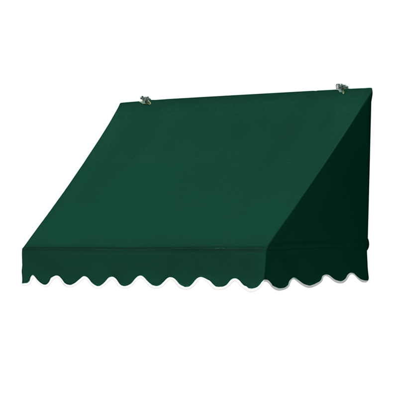 4' Traditional Awnings in a Box, Forest Green