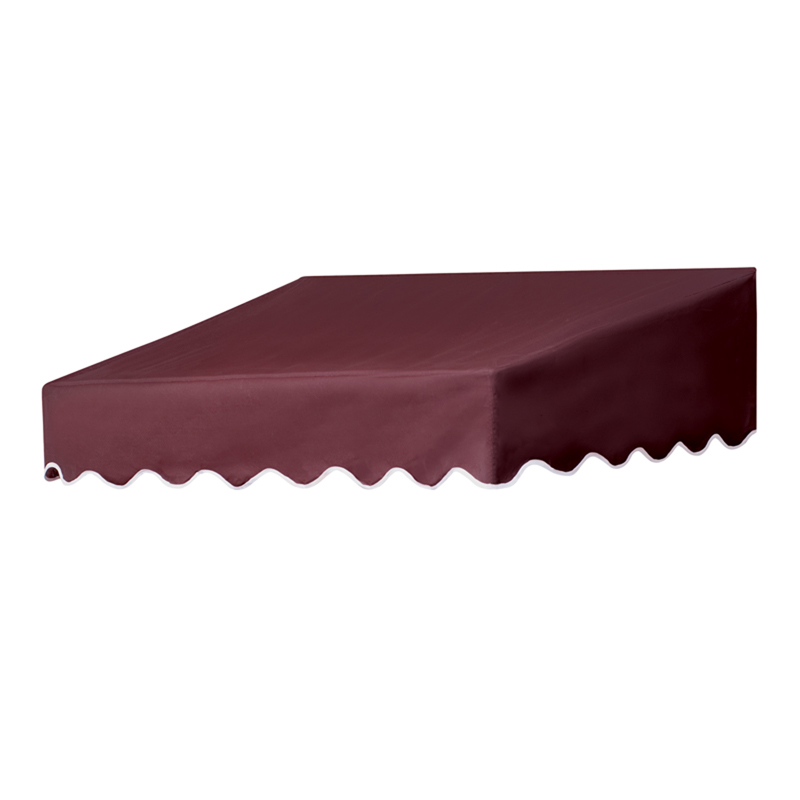 4' Traditional Door Canopy in a Box Burgundy