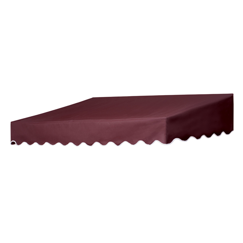 6' Traditional Door Canopy in a Box Burgundy