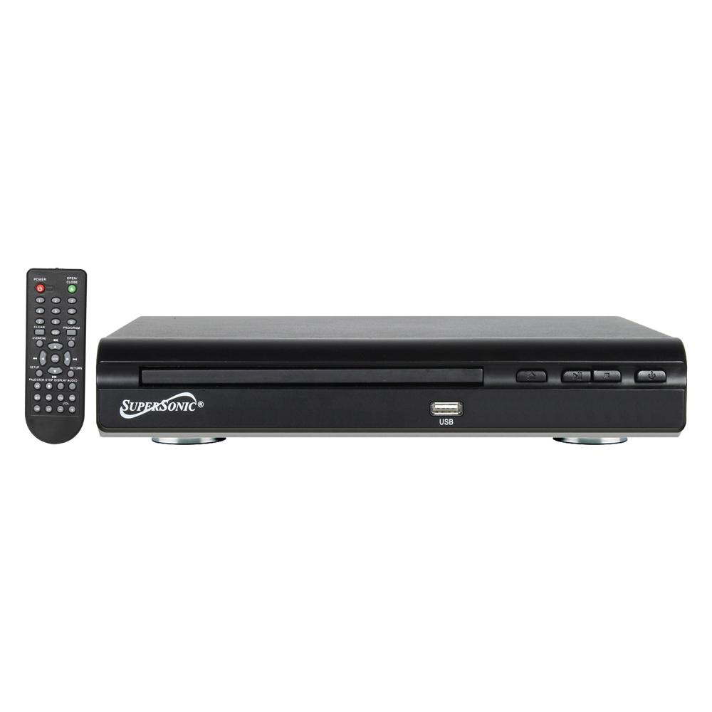 SuperSonic 2.0 Channel DVD Player with USB Input