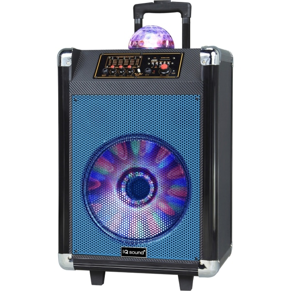 "12"" Rechargable BT DJ Speaker Blue"