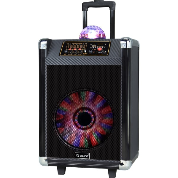"12"" Rechargable BT DJ Speaker Black"
