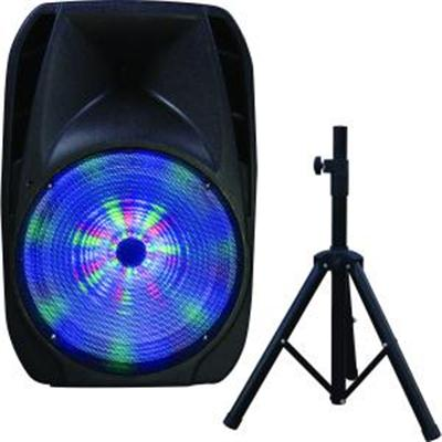 "15"" Portable BT DJ Speaker with Stand"